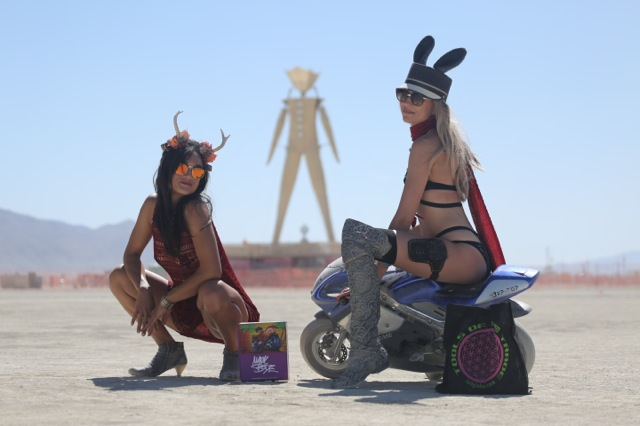 Product shots w/ models from Burning Man 2015